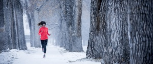 Running in the winter.